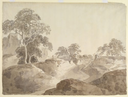 Scene near the Fort Jaunpur (U.P.). Probably 26 November 1789